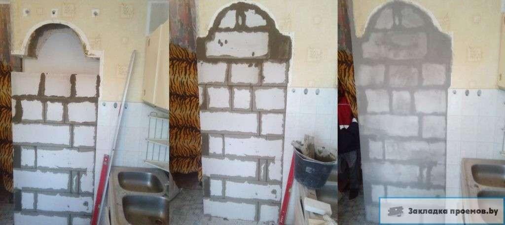 Закладка и восстановление кухонных ниш в Минске